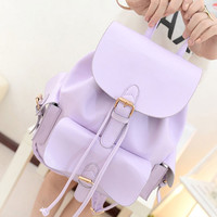 Choies Lavender Preppy Style Backpack - Choies.com