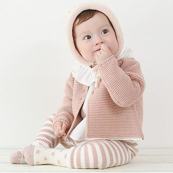 Spring Newborn Cardigans Coats Knit Cotton Baby Girls Outerwear Sweater Girl Winter Clothes Baby Clothing Jackets for Baby Girls