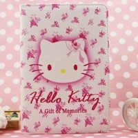 Hello Kitty Cute Leather Case for Apple iPad mini (PINK)