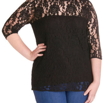 BB Dakota Here's to Happiness Top in Plus Size | Mod Retro Vintage Short Sleeve Shirts | ModCloth.com