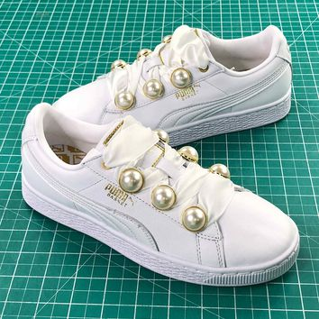 Puma Basket Bling White Women's Fashion Sneakers - Best Online Sale