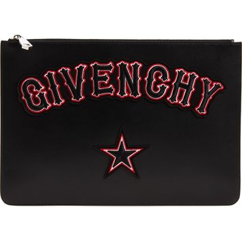 Givenchy Logo Print Leather Pouch | Nordstrom