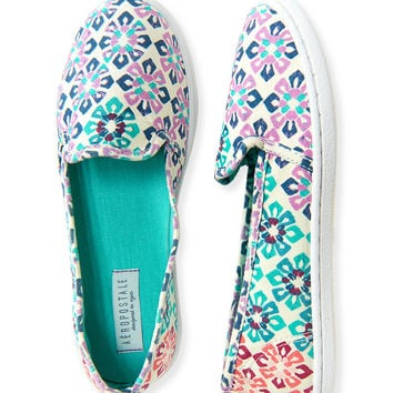 Floral Mosaic Slip-On Shoe