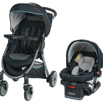 Graco Baby FastAction 2.0 Travel System Stroller w/ Infant Car Seat Darcie NEW
