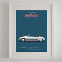 Gattaca inspired movie poster, art print A3 Cars And Films