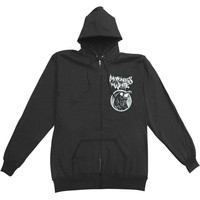 Motionless In White Men's  Raven Zippered Hooded Sweatshirt Black Rockabilia