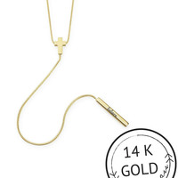 Believe Y-Shaped Necklace by Kitsch {Gold}