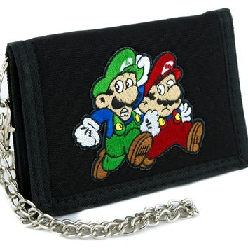 Mario and Luigi Tri-fold Wallet Super Mario Bros. Clothing Gaming Nintendo