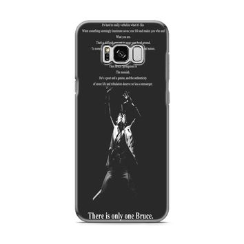 Bruce Springsteen Quotes Samsung Galaxy S8 | Galaxy S8 Plus case