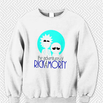 the adventures of Rick and Morty Sweater Man and Sweater Woman