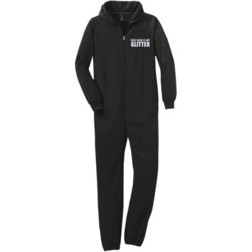 Front and Back Adult Fleece Onesuit