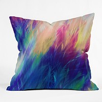 Caleb Troy Paint Feathers In The Sky Throw Pillow