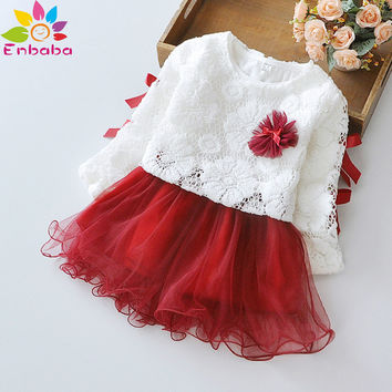 baby girl dress winter long sleeve lace flower Princess newborn baby girl clothes dresses for wedding christening gowns vestido