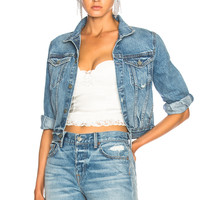 GRLFRND for FWRD Taylor Fitted Crop Jacket in Little Lady | FWRD