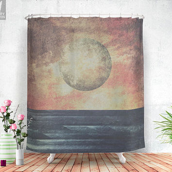 Restless moonchild Shower curtain
