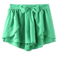 Flouncing bow culottes shorts M