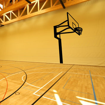 Vinyl Wall Decal Sticker Basketball Hoop #OS_MB457