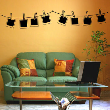 Vinyl Wall Decal Sticker Polaroid Line #OS_MB904