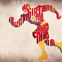 The Flash Inspired The Justice League Typographic Print and Poster