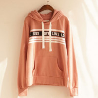 Fashion big size loose type pullovers hoodies thick sweater