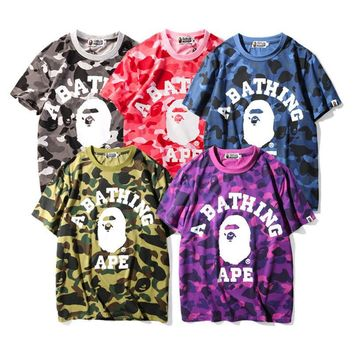2017 new camouflage short sleeved men and women loose large size T-shirt [10141570247]