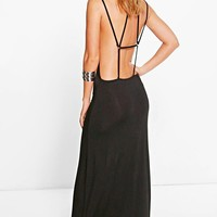 Sia Strappy Back Maxi Dress