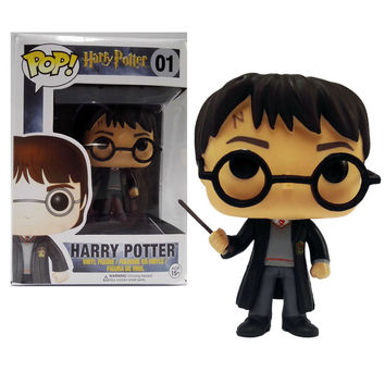 Funko POP Movies Harry Potter Action Figure Toys Cute 10cm Funko POP Version Harry Potter PVC Model Doll for Kids Christmas Gift
