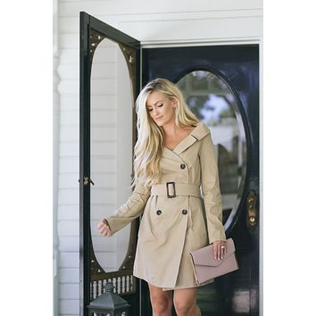 Lillian Taupe Trench Coat