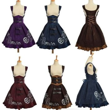 Women's Gothic Steampunk Dress - Performance & Stage Wear - Free Ship - Order up a size