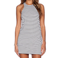 Blue Life Racer Back Tank Dress in White