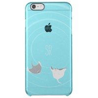 Stingrays Monogram Clear iPhone 6 Plus Case