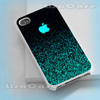 Mint Sparkle, iPhone case, iPhone 4/4S case, iPhone 5 Case, Samsung GAlaxy S3/S4 Case, Photo prind hard Plastic