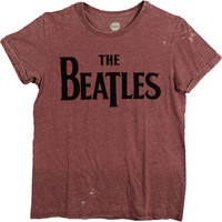 Beatles Men's  Drop T Logo T-shirt Maroon
