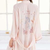 Out From Under Kitschy Embroidered Robe - Urban Outfitters