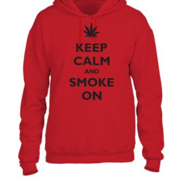 keep calm and smoke on - UNISEX HOODIE
