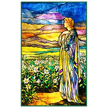 Field of Lilies inspired by Louis Comfort Tiffany  Counted Cross Stitch Pattern
