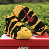 Nike Air more uptempo yellow black Basketball Shoes 40-46