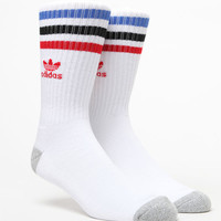 adidas Roller White Multi Crew Socks at PacSun.com