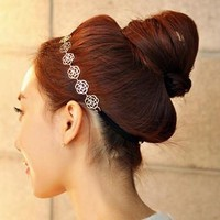 Overmal Mujeres Hair Headdress Fashion Elegant Rose With Fine Hair Cut 2016 New Arrival#3546