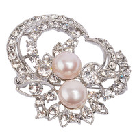 Latest Pearl Brooch Initial Jewelry Pandora Brooch Floral Stylish Jewelry