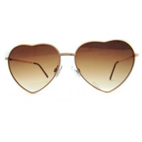 A 091220 Metal Heart-Shaped Personalized Retro Sunglasses from decaldramastorenvy