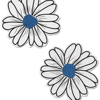 White And Turquoise Flower Pasties