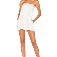 BLAQUE LABEL Strapless Romper in White | REVOLVE