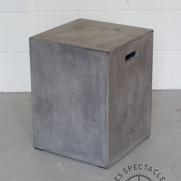 Square Concrete Stool