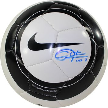 Christie Rampone Signed Nike Aero Black White Replica Soccer Ball