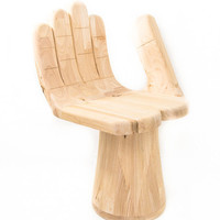 Happy Hand Chair in Natural wood