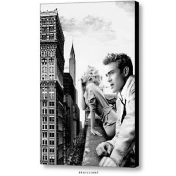 ORIGINAL JAMES DEAN MARILYN MONROE BALCONY SMOKE NYC NEW YORK c 2014 Brailliant