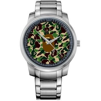 BATHING APE 7 Metal Watch