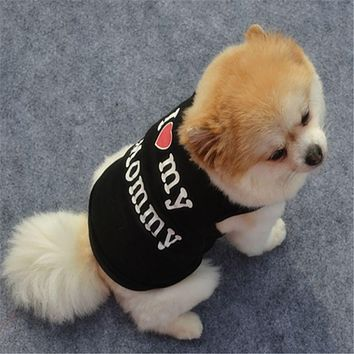 Pet Dog Vest Clothes Spring T-shirt Soft Dogs Clothes Summer Shirt Casual Coats