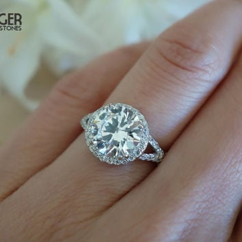 Best 3 Carat Halo Engagement Ring Products on Wanelo 3fddf4e7f208